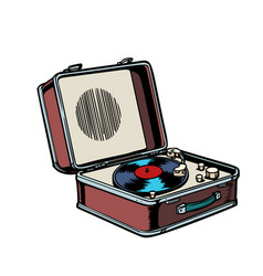 retro vinyl record player vector image