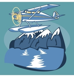 Sea Plane vector image