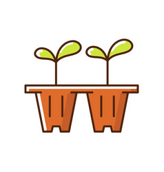 seedling trays rgb color icon vector image