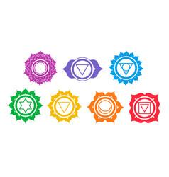 Set chakra symbols vector