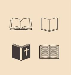 Set of bibles vector