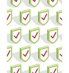shields seamless background protection antivirus vector image