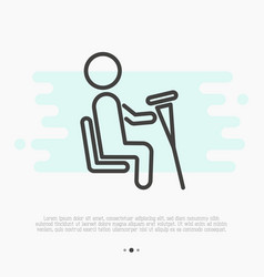Sign of priority seat for disabled people vector