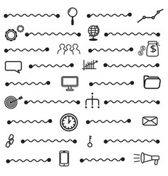 simple seo icons set basic seo elements texture vector image