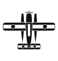 Ski equipped airplane icon simple style vector