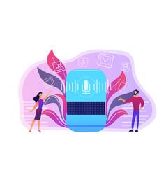 Smart speaker apps marketplace concept vector