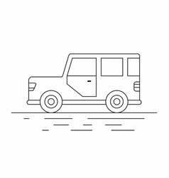 suv car line icon vector image