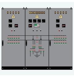 Transformer electric shield vector image