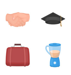 Traveling learning and other web icon in cartoon vector