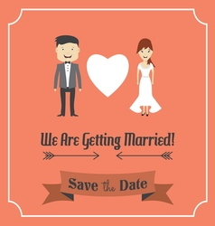 We are getting married template card vector