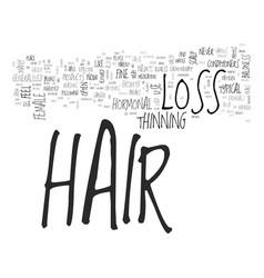 what is hormonal hair loss can it be controlled vector image