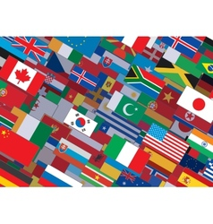 World Flag Background Ready for Your Text Design vector
