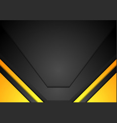 Yellow and black corporate art background vector