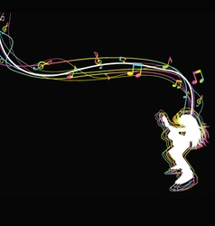 A0036 guitar vector image