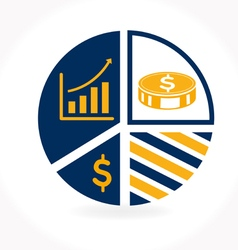 Business Infographic icon vector image vector image