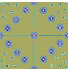 Flower seamless pattern 2-08 vector image