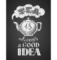 Hot black tea vector image vector image