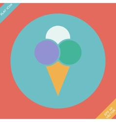 Ice Cream Icon - Flat design vector image
