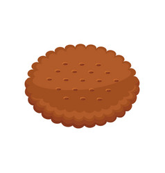 biscuits with pieces of chocolate and caramel vector image
