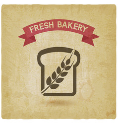 bread bakery symbol vintage background vector image vector image