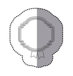 contour emblem with symbols inside icon vector image vector image