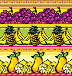 fruit striped seamless vector image vector image