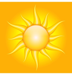 orange background with sun vector image