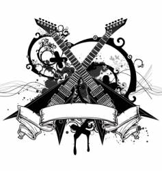 rock music graphic vector image vector image