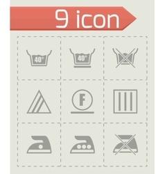 Washing signs icon set vector image