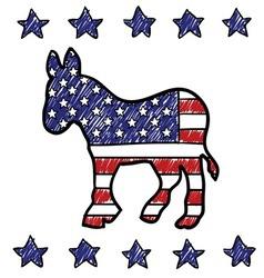 American democrat vector image vector image