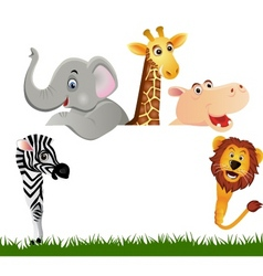animal and whitebanner vector image vector image