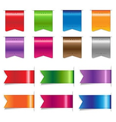 Big Sale Color Ribbons Set vector image