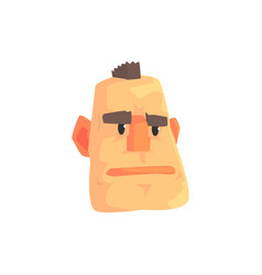 man face with mohawk cartoon character vector image