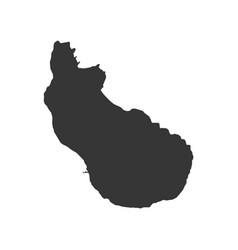 sint eustatius map vector image vector image