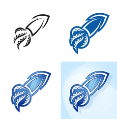 Stylized squid set vector image vector image