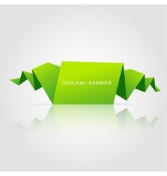 Abstract green origami speech bubble vector image