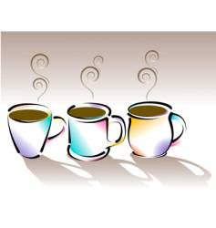 coffee cups vector image