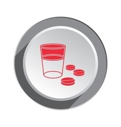 Pill drug icon health medicine symbol tablet vector