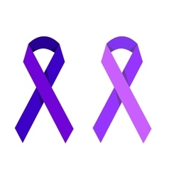 Purple ribbon symbolizing victims of homophobia vector image