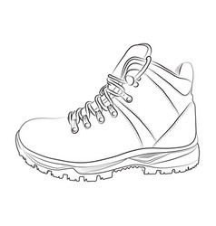 sketch of a male shoe on white background vector image