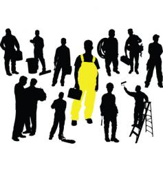 twelve workers vector image vector image