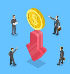 3d isometric flat concept financial vector