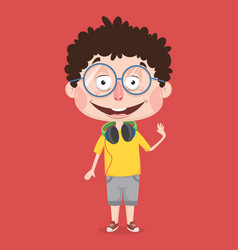 Abstract boy character design vector