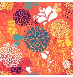 Abstract colorful doodlesflowers vector
