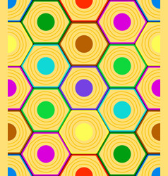 Abstract hexagon pattern vector