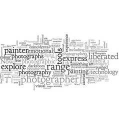 abstract photography has photography come age vector image