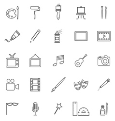 Art line icons on white background vector