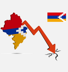 Artsakh nagorno karabakh republic economic crisis vector