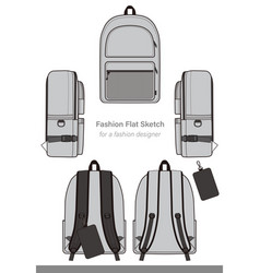 Backpack design template vector