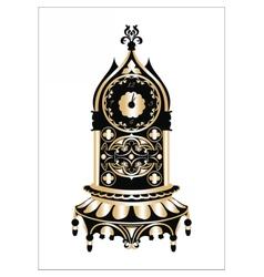 Baroque Classic Golden clock vector